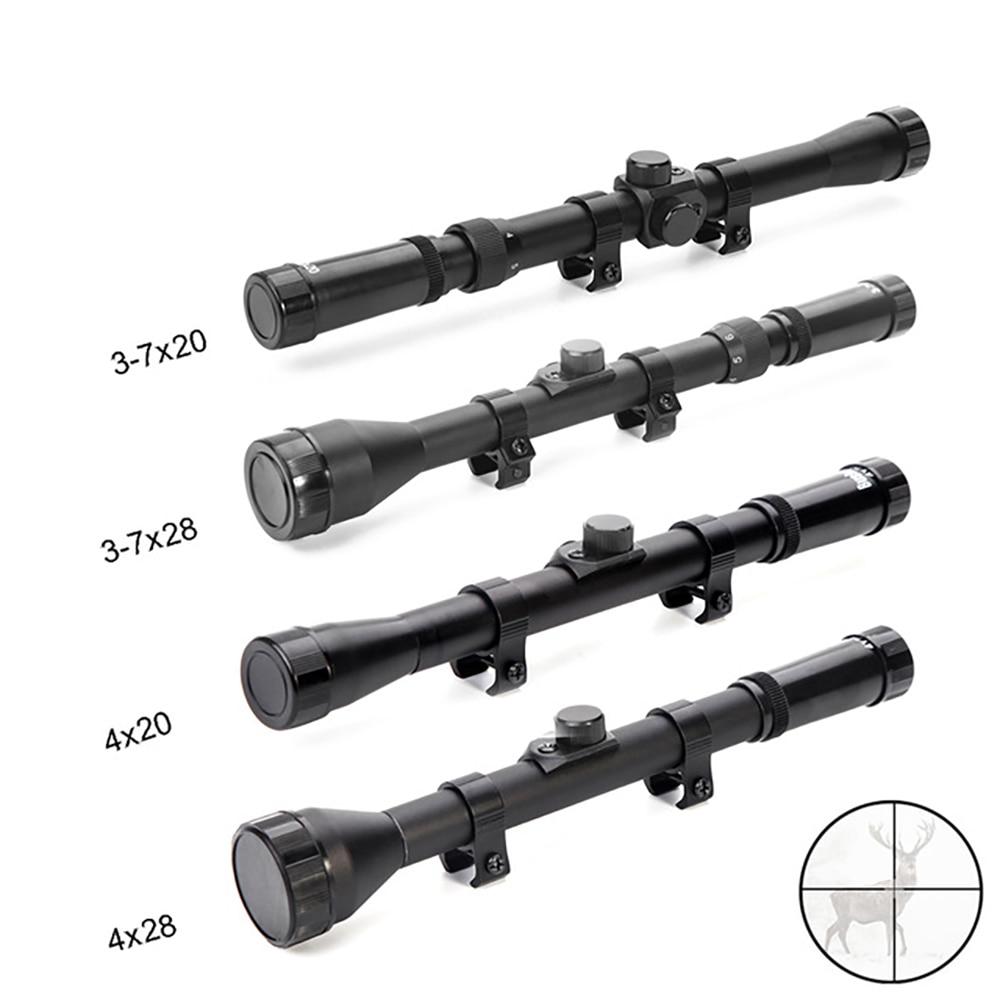 4x20 Hunting Riflescopes 3-7X28 Tactical Optics Reflex Sight Crosshair 4X15 Scope 4X28 Air Gun Rifle Scope 3-7x20 Scopes