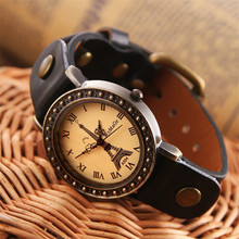 WoMaGe vintage style Sports wristwatch strap leather casual