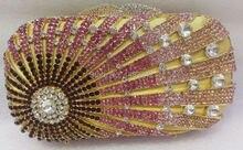 Freies verschiffen!! B16, mode top kristallsteinen ring handtaschen für damen nette parteibeutel