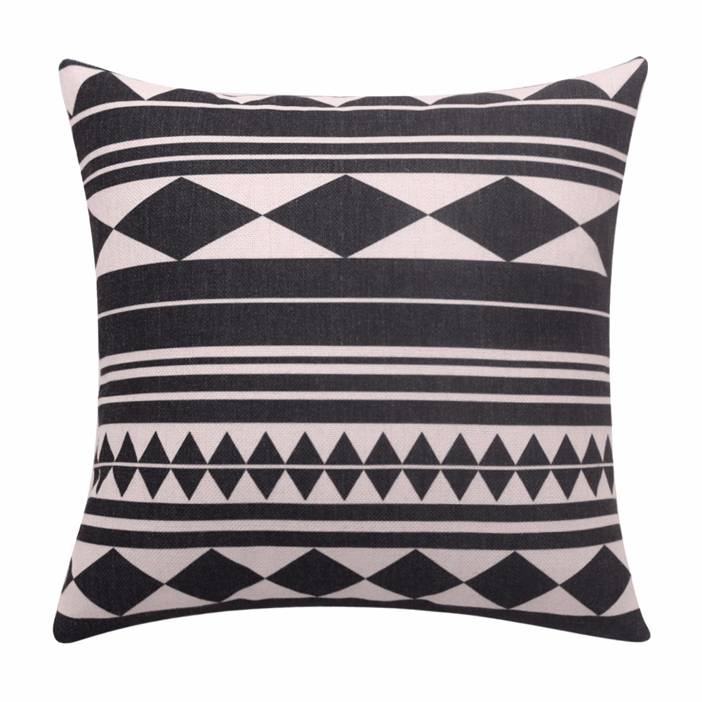 Geometric Cushion Covers Seamless Throw Pillow Covers Linen Cotton Decorative Pillow Cases Square Pillowcase For Sofa Home Decor Pillow Case Square Cushion Coverthrow Pillow Covers Aliexpress