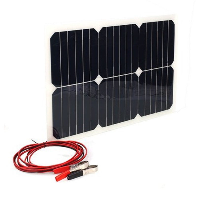 Portable solar flexible panels 18V 20W car battery pack mobile phone charger Po outdoor generation mobile power many interface