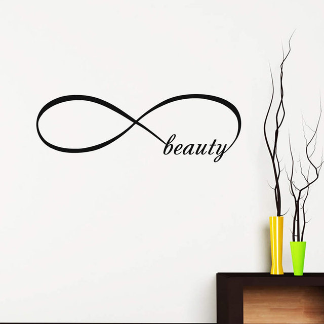 Wall Decals Infinity Symbol Bedroom Vinyl Sticker Home Decor Beauty