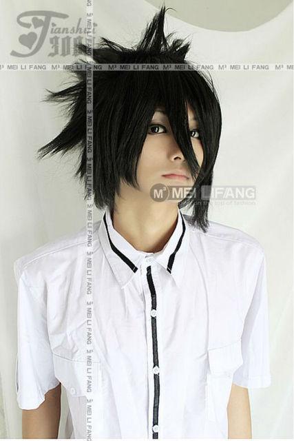 uchiha sasuke black short shaggy