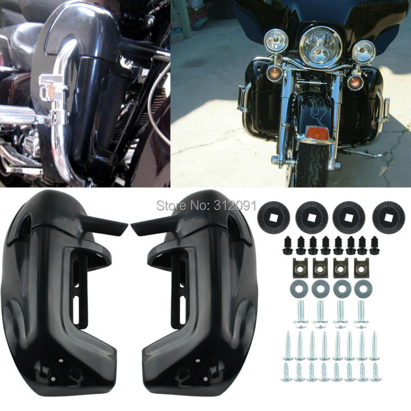 (Ship from EU) Glossy Lower Vented Leg Fairings Glove Box For Harley Road Street Glide 1983-12