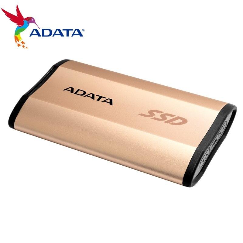 Adata Externe Ssd Se730h 250g 512g Usb 3.1 Für Windows Mac Android Bis Zu 500 Mb/s Military Grade Stoßfest Tragbare Schlanke