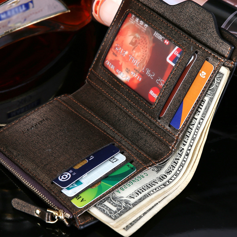 2018 Hot Fashion Wallets for Men with Coin Pocket Wallet ID Card Holder Purse Clutch with Zipper Men Wallet with Coin Bag Gift