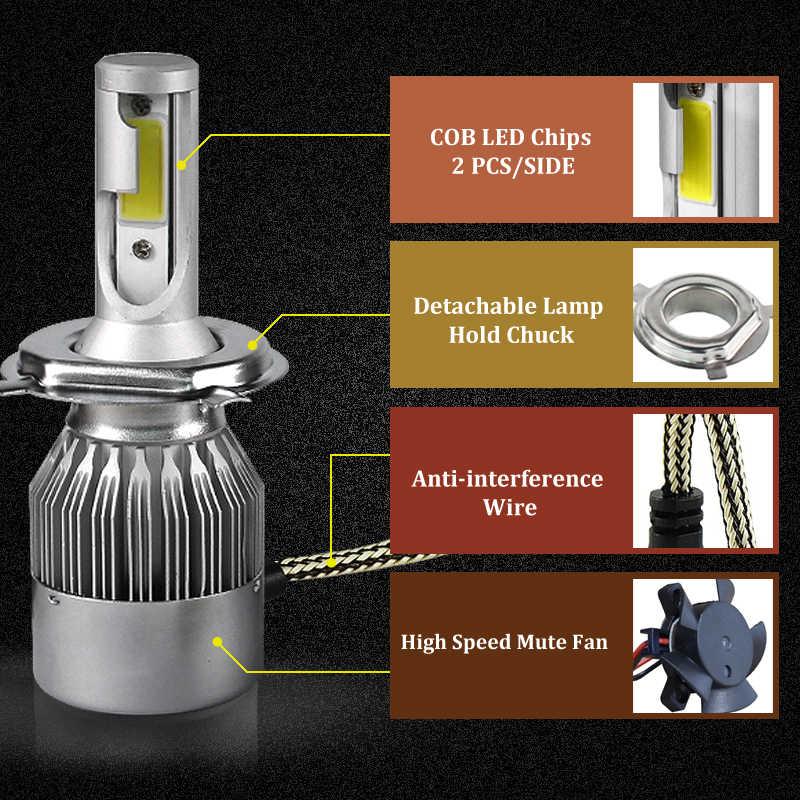 Mobil H15 H4 H11 H7 LED Lampu Depan 24 W 2000LM Nirkabel Mobil Lampu Lampu 12 V Konversi Mengemudi Lampu 6000 K Putih untuk Audi BMW