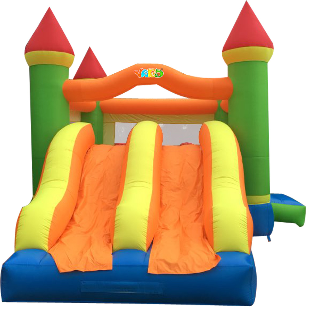 New Bounce House Double Inflatable Slide And Trampoline For Kids Funny Bonnct Castle Gaint Inflatable Toys super funny elephant shape inflatable games kids slide toy for outdoor