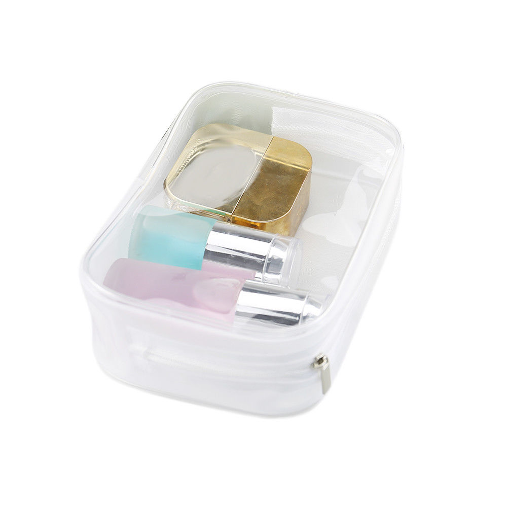 Transparent PVC Cosmetic Bag Women Men Travel Makeup Bag Beauty Wash Kit Case Zipper Make Up Organizer Storage Pouch Toiletry 3pcs set women transparent cosmetic bag clear zipper travel make up case makeup beauty organizer storage pouch toiletry wash bag page 7