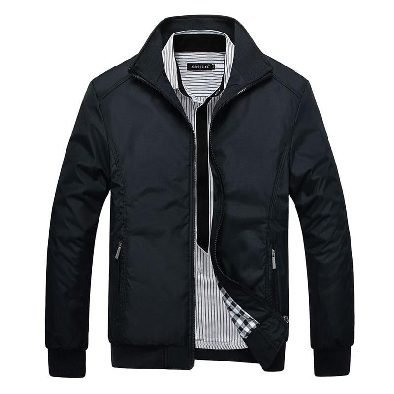 Hommes coupe-vent manteau marque casual bomber veste hommes stylet 2017 Nouveau Turn-down Collar Vente Entière et Manteaux 4XL 5XL