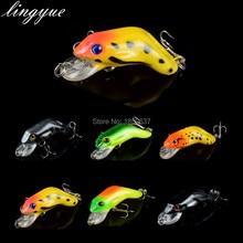 New 1PCS Hard Plastic Frog Fishing Lure 3d eyes Swimbait Crankbait Bait Isca Artificial Bait Free Shipping