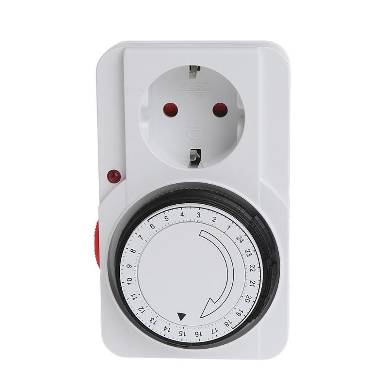24H Mechanical Electrical EU Plug Program Timer Power Switch Socket Energy Saver