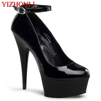 Sexy high fine for 15 cm super high heels with waterproof paint single shoes fashion colourful shoes