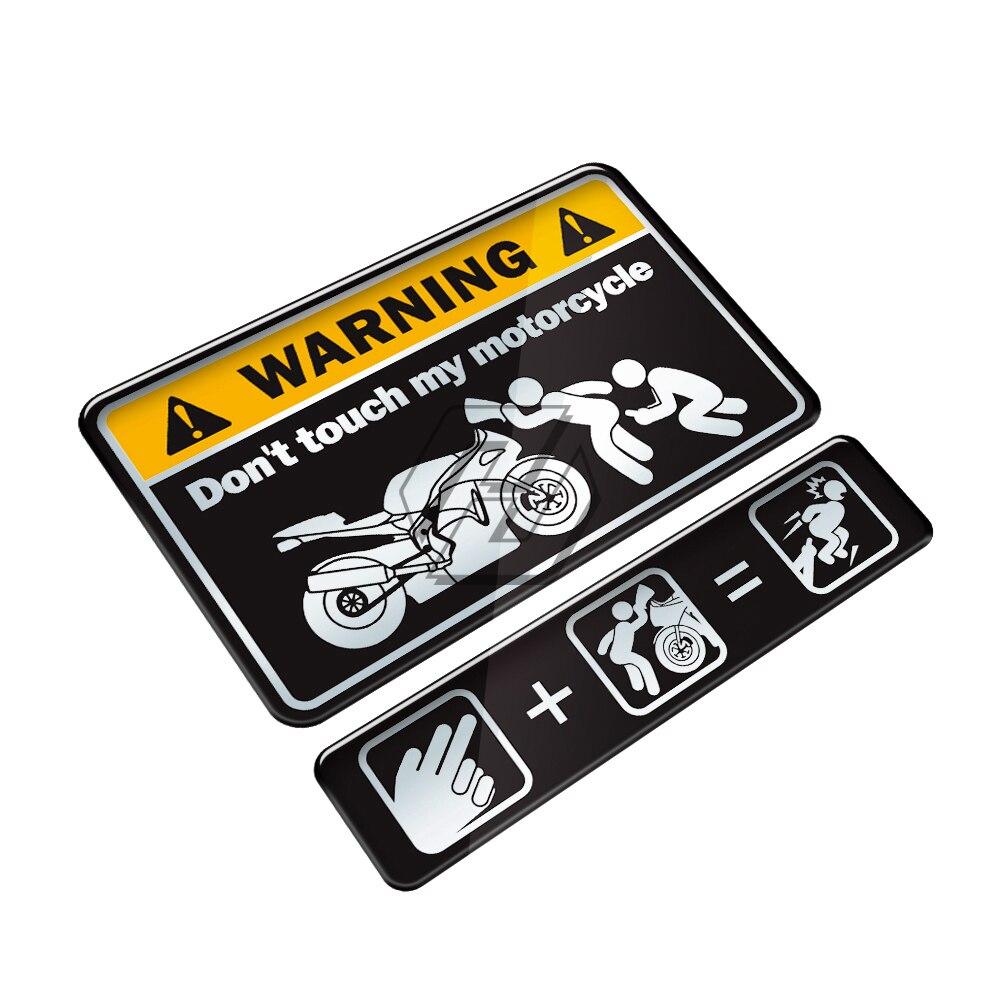 3D Do Not Touch My Motorcycle Motorbike Tank Decal Warning Sticker Case For Kawasaki Yamaha Honda Suzuki KTM Ducati BMW Benelli