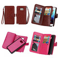 Sys-9k lujo desmontable pu leather wallet case para samsung galaxy nota 5 Note5 N9200 Cubierta Con Ranuras Para Tarjetas de Teléfono Flip bolsas