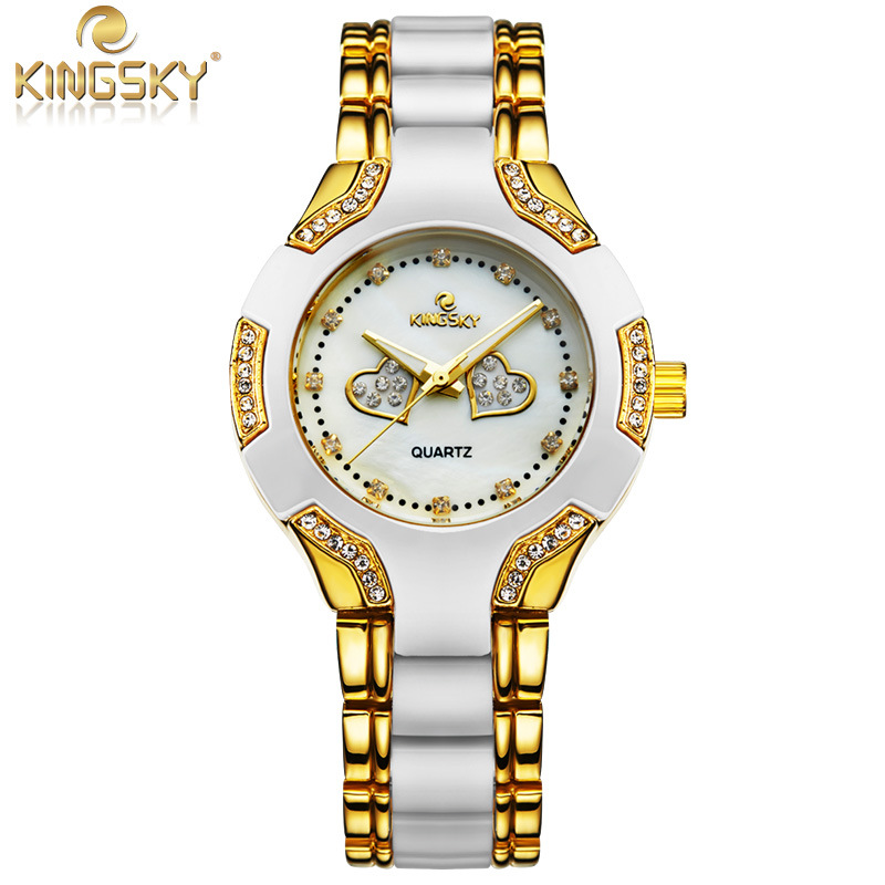 Special Offer Watch Women Gold Fashion Casual Luxury Brand KINGSKY Ladies Quartz Watch Relojes Mujer 2016