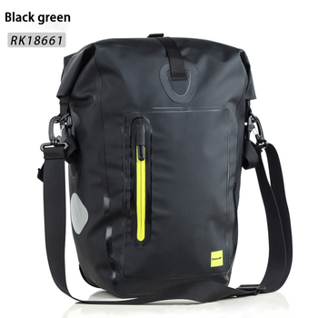 Rhinowalk bicycle bag multi-function full waterproof seamless 25L mountain bike long-distance riding bag can be carried carry