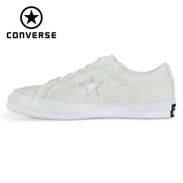 US $87.94 45% OFF 1970s Original Converse OFF WHITE lucency all star Vintage shoes men and women unisex sneakers Skateboarding Shoes 162204C in