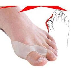 1 пара ортопедический вальгусный сепаратор для пальцев ног Bunion корректор поддоны для сепараторов Bunion протектор педикюр силиконовый инстру...