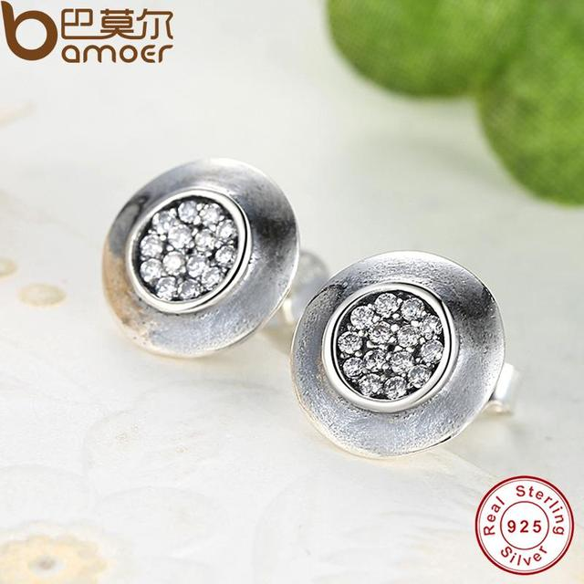 Sterling Silver Signature Round Stud Earrings