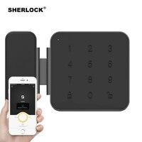 Шерлок G1 Smart Lock безопасный Стекло пароль блокировки дверей Office Keyless цифровой электрический замок Bluetooth встроенным замком приложение Управле