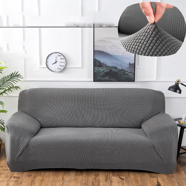 1pcs Elastic Stretch Universal Sofa Covers With Knitted Thick Corn Fabric Sectional Throw Couch Corner Cover Cases For Home
