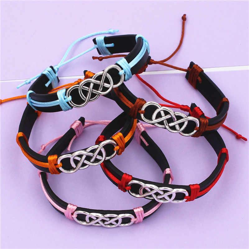 Женские и мужские браслеты ручной работы, плетеные браслеты с двойной бесконечной любовью, летние украшения, подарок другу, 2020