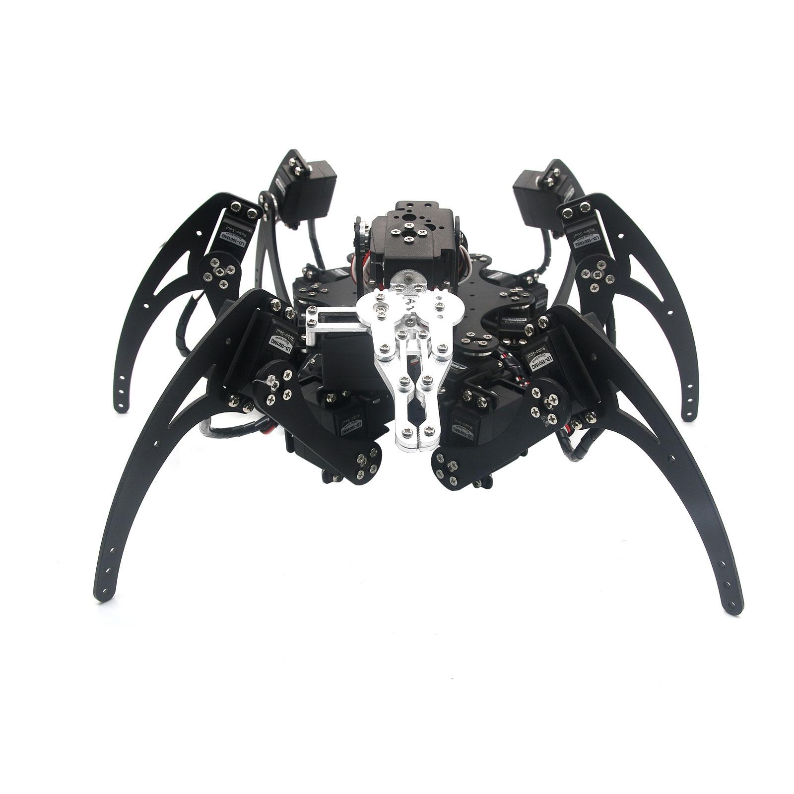 20DOF Aluminium Hexapod Robotic Spider Six Legs Robot Frame Kit for Toy Diy 18dof aluminium hexapod spider six legs robot kit w 18pcs mg996r servo