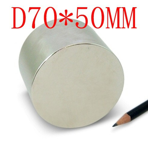 1PCS 70MM X 50MM disc powerful magnet craft magnet neodymium rare earth neodymium permanent strong magnet n50 n52 70*50 70x50 70 50 big strong 70mm x 50mm disc powerful magnet neodimio neodymium magnet n35 imanes holds 200kg