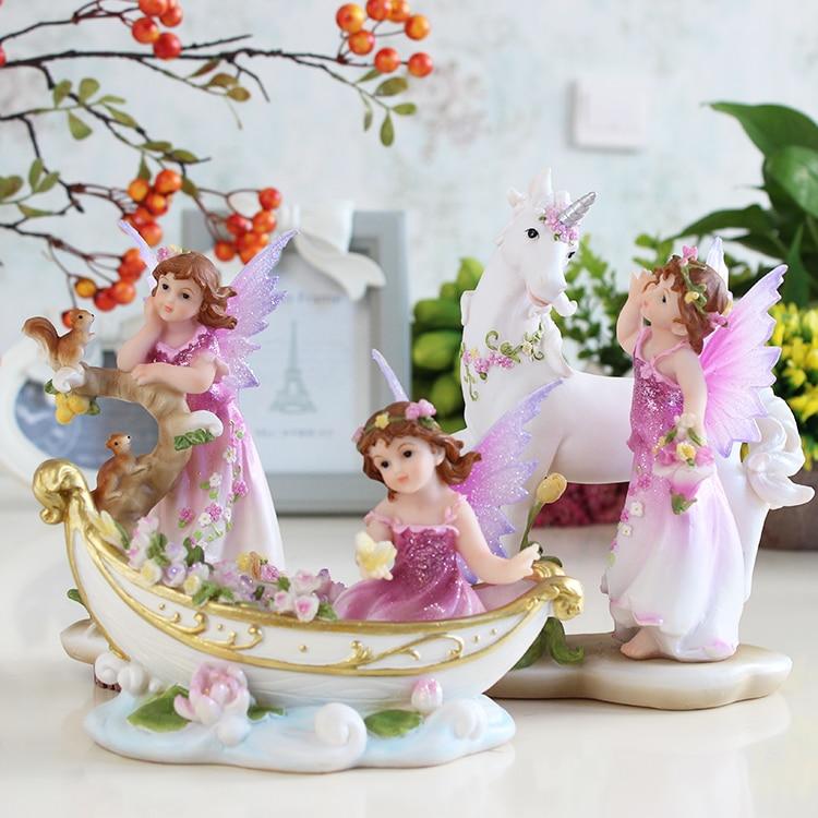 Creative Gift Angel Ornaments Home Decor Flower Pixie Fairy Miniature Figurines Dollhouse Garden Ornament Decoration Crafts