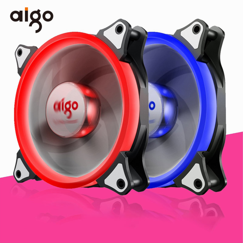 все цены на Aigo 120mm Aurora PC Fan Computer Case Cooling Fan Hydraulic Bearing Fan 12V Mute Cooling Fan for Computer Ventilador PC Cooler онлайн