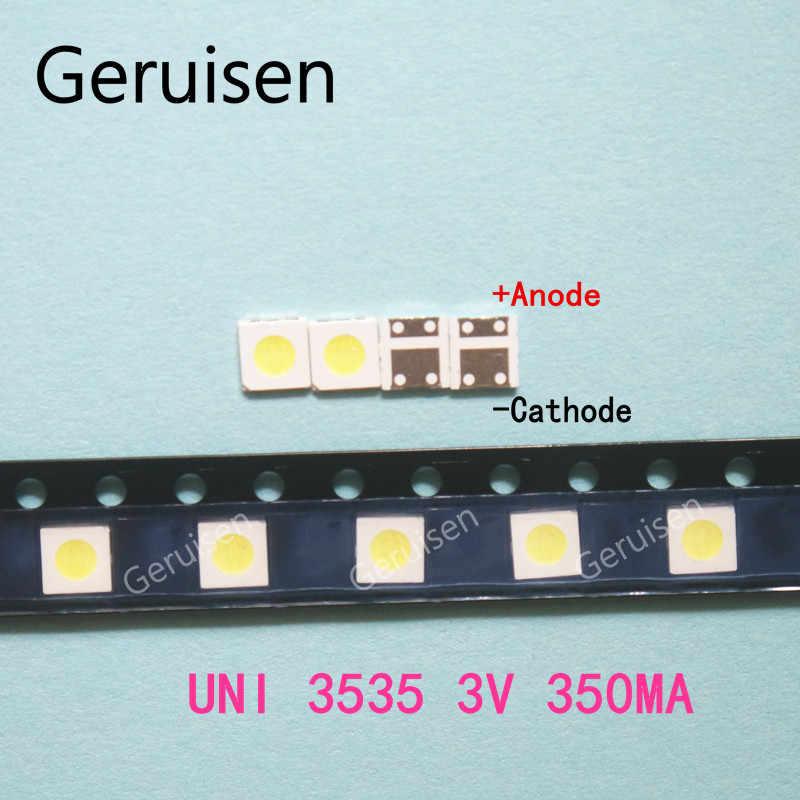 200 قطعة UNI LED الخلفية عالية الطاقة LED 1 واط 3537 3535 90LM 3 فولت كول الأبيض LCD الخلفية لتطبيق التلفزيون التلفزيون