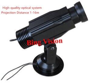 Высокое качество LED статическая Gobo реклама изображения проектор лампа led логотип проекции свет, 12 Вт проекционный 5 видов цветов