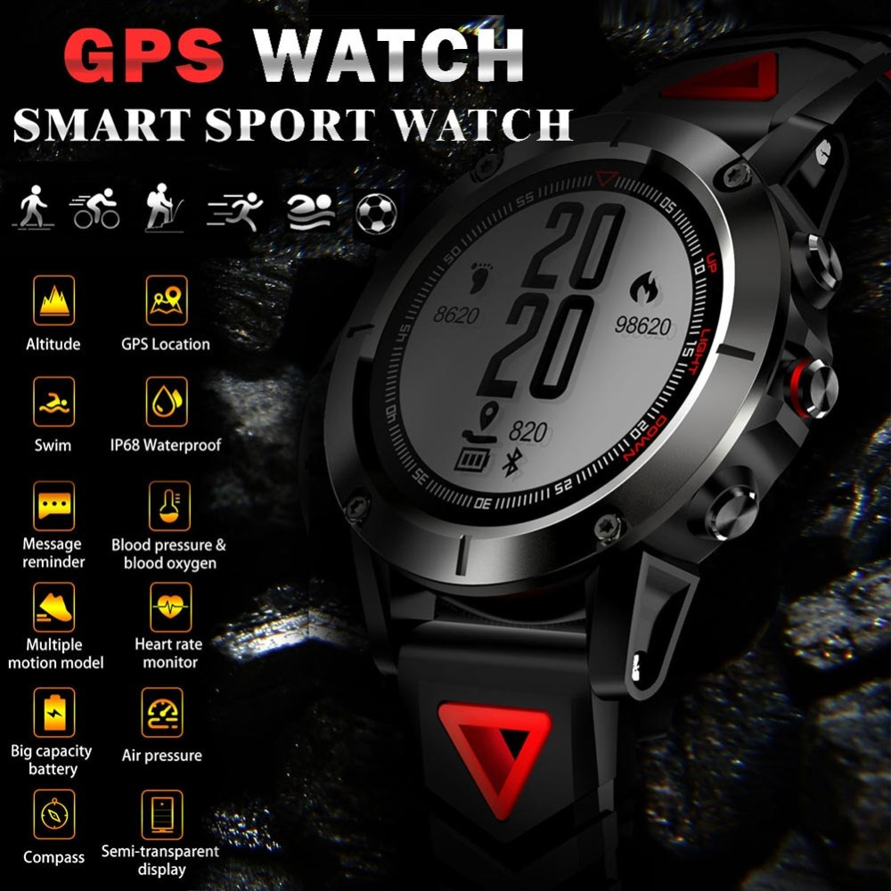 G01 GPS Smart Watch Men IP68 Waterproof Heart Rate Monitor Bluetooth Wristwatch Sports Compass Smartwatch for Android IOSG01 GPS Smart Watch Men IP68 Waterproof Heart Rate Monitor Bluetooth Wristwatch Sports Compass Smartwatch for Android IOS