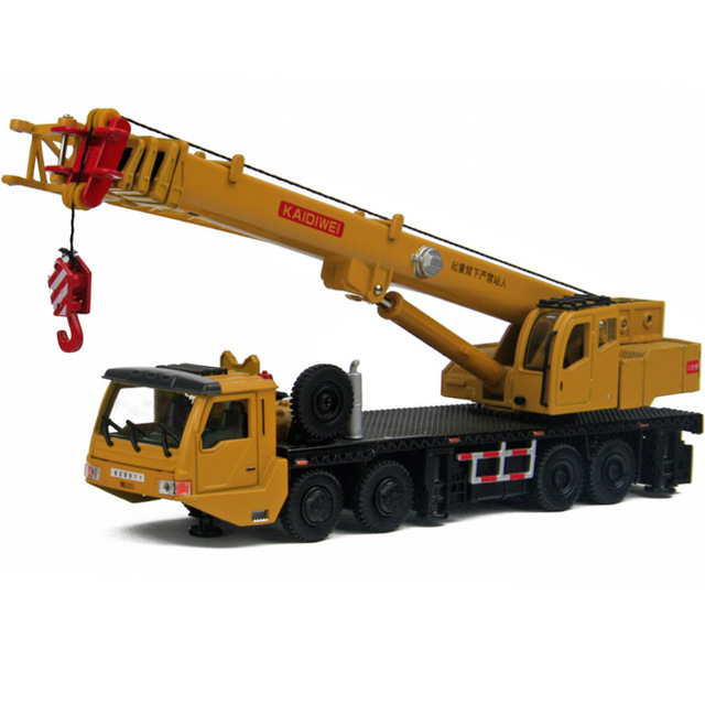 Toy alloy construction crane model heavy duty 8 wheel mainest rotating tensile alloy 97