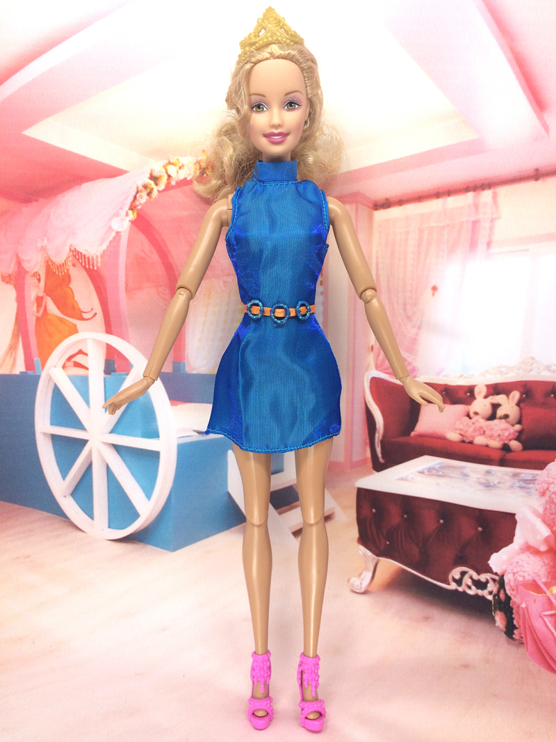 NK One Set Authentic Doll Garments Handmade Get together Outfit Vogue Costume Customized Match  Maxiskit For Barbie Authentic Doll B027