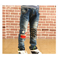 Boys 2017 New Winter Pants Thick Ripped Casual Jeans Kids Blue Skinny Fashion Children Clothing Little Kid Sport Denim Pants
