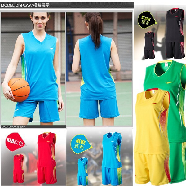 Women s basketball jersey (contains Shirts and Shorts) with Brand  embroidery LOGO Girls basketball fans Professional sports wear 8169b71f93