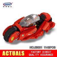 XingBao Block 1143Pcs Creative MOC City Series The Citizen Akira Moto Set Building Blocks Bricks Boy