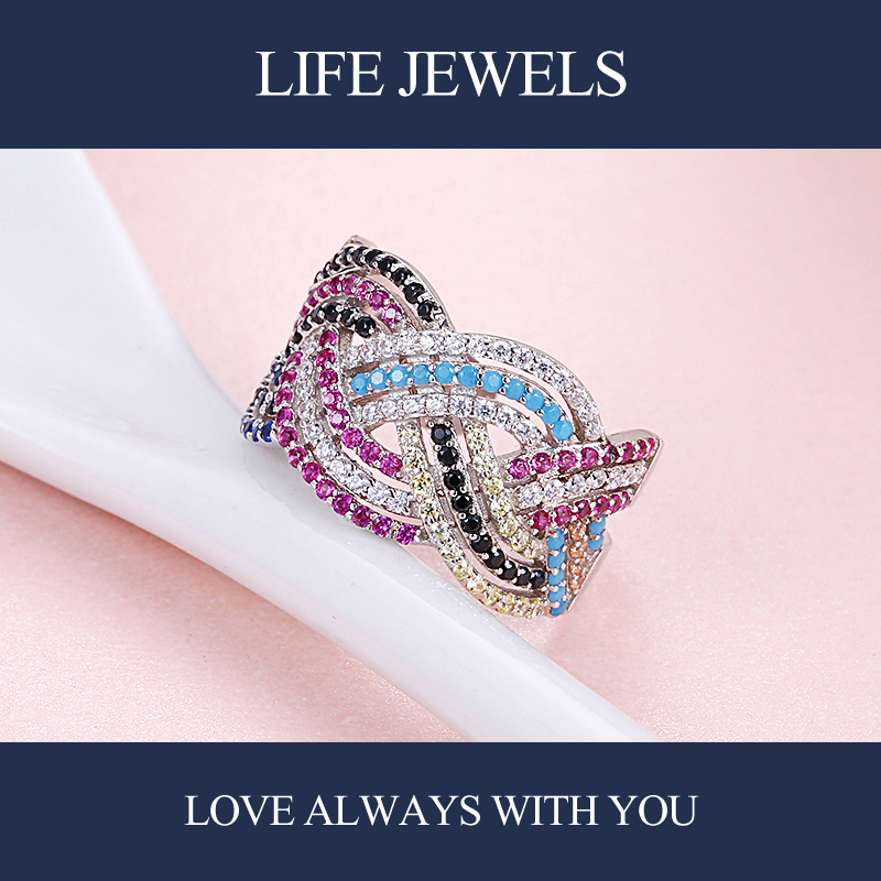 Authentic100 925 Sterling Silver Austria Zircon Rings Charm l Women Luxury Sterling Silver Valentine 39 s Day Gift Jewelry 18146 in Rings from Jewelry amp Accessories