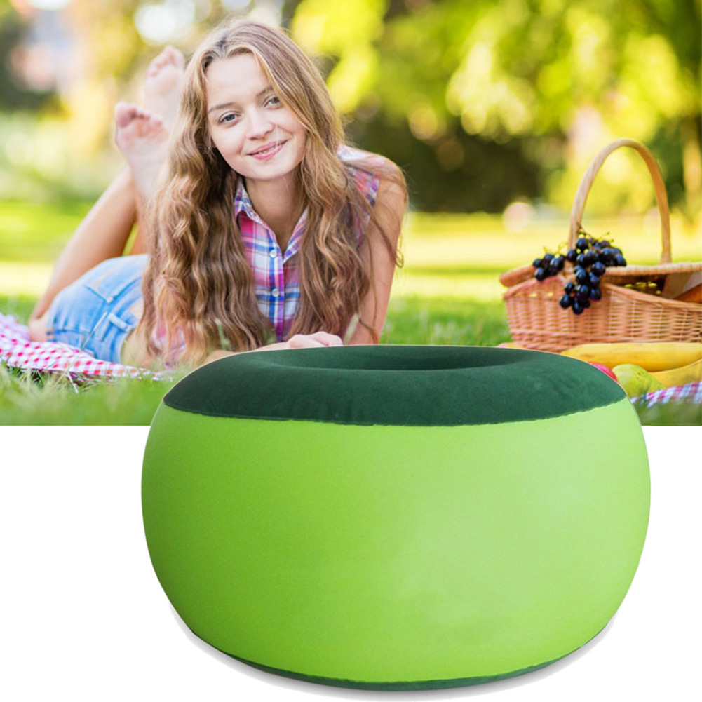 Inflatable furniture for kids - Environmental Outdoor Inflatable Stool Cotton Cover Portable Cartoon Plush Thickening Pouf Chair Lovely Pneumatic Stools