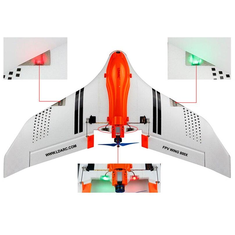 LDARC aile volante 800X aile fixe 768MM envergure Drone FPV Racer EPO KIT/PNP/FPV Version avec RunCam Swift Mini caméra