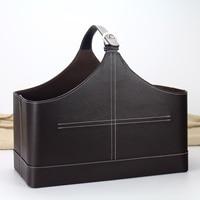 quality imitation Leather storage basket toy christmas storage basket gift