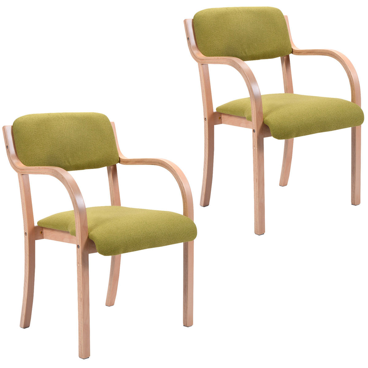 Giantex Set of 2 Bentwood Arm Dining Chairs Modern Green Accent Chair Upholstered Home Room Furniture 2*HW52978GR mid century presidential solid oak wood dining chair armchair upholstery seat dining room furniture modern arm chair for home