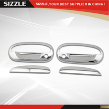 97 98 99 00 01 02 03 F150 Expedition 2D Door Handle Cover With PSKH No Key Pad For Ford F150 Parts Chromium Styling