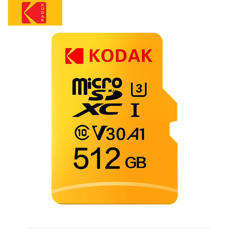Original Kodak 512GB Micro SD card class 10 U3 4K High Speed   cartao de memoria Flash Memory Card 512gb mecard C10-in Micro SD Cards from Computer & Office    1