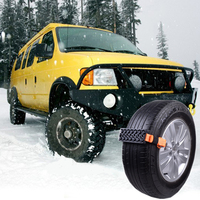2pcs Car Snow Chains Rubber Snow Chains Universal Car Suit Tyre Winter Roadway Safety Auto Tire Chains Snow Climbing Mud Ground