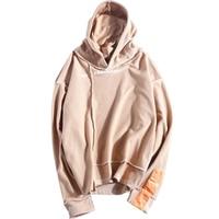 Oversized Vintage Hoodie Men Khaki Japanese Patchwork Harajuku Mens Hoodies Hip Hop Streetwear Male Sweatshirt Basic Rap Clothes