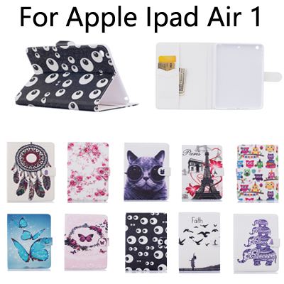 For Apple iPad Air1 Tablet Cover Case New Fashion PU Leather wallet card slot Case for IPAD5 sleep/wake up case+screen film+OTG sd luxury stitching pu leather book case for ipad air 1 auto wake up function smart cover for ipad air1 ipad5 tablet film gift