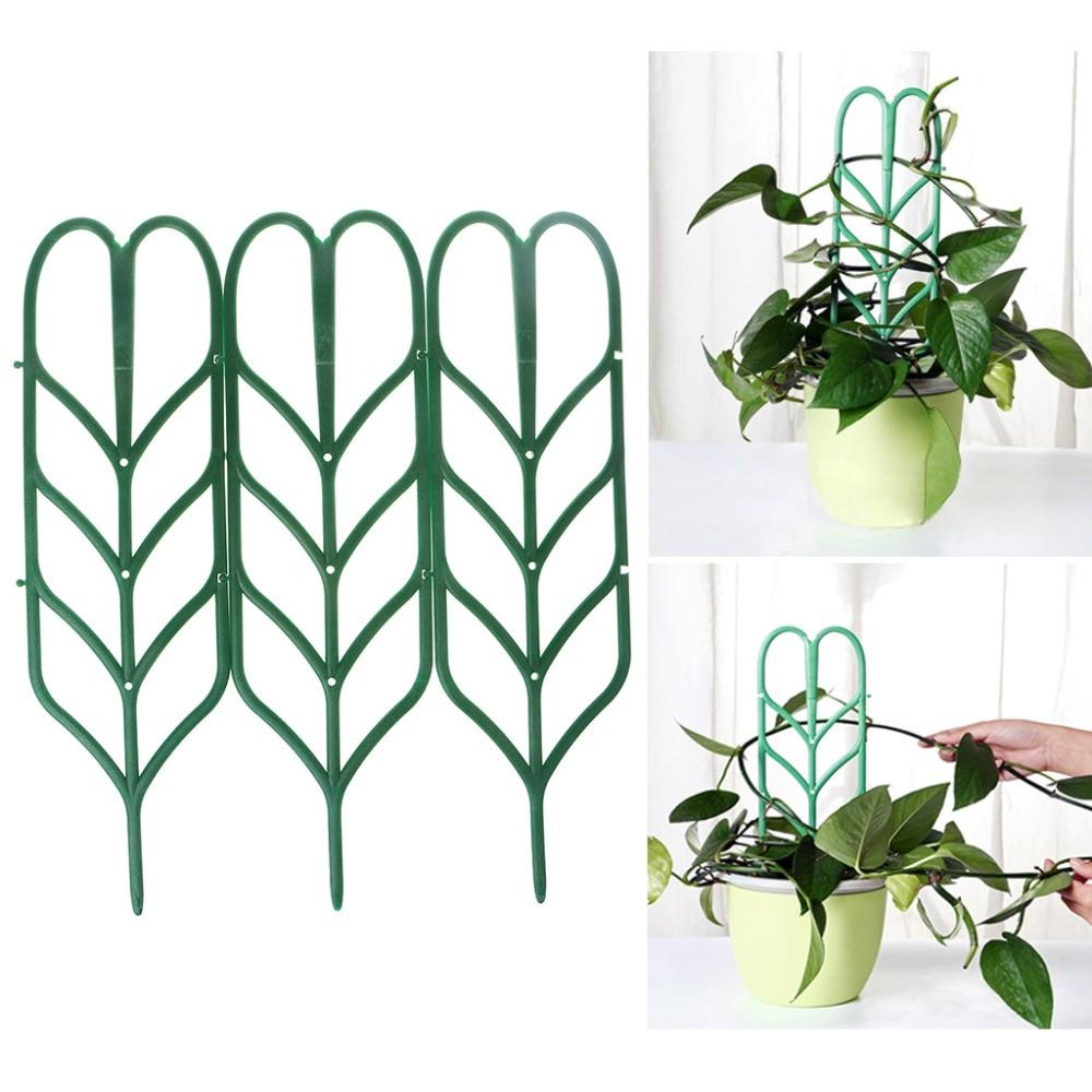 3Pcs DIY Plant Support Frame Artificial Mini Climbing Trellis Flower Stand Garden Tool 35.5x10cm